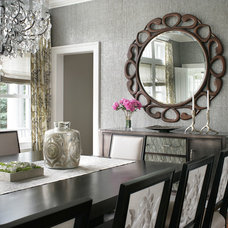 Transitional Dining Room by Valerie Grant Interiors