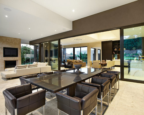 Open plan dining design ideas renovations photos with for Deco maison style contemporain