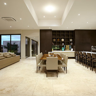 Dining room - contemporary dining room idea in Melbourne