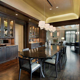 Large Formal Dining Room with Built-in Cabinetry