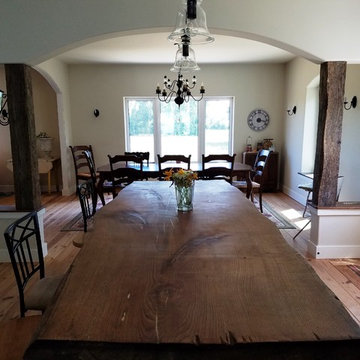 Large island and dining room