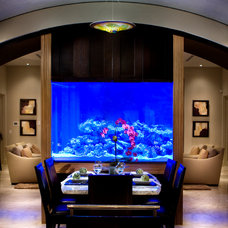Contemporary Dining Room by Storch Entertainment Systems