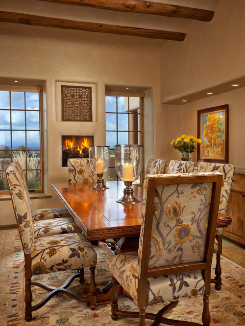 Southwestern dining room design ideas remodels photos with carpet Home furniture rental albuquerque