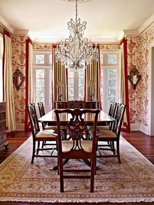 Rustic dining room design ideas renovations photos with for Dining room ideas with red walls