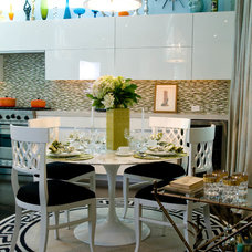 Eclectic Dining Room by Woodson & Rummerfield's House of Design