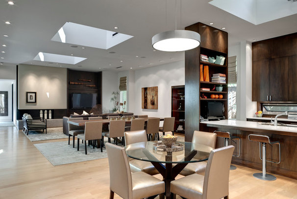 Contemporary Dining Room by Domiteaux + Baggett Architects, PLLC