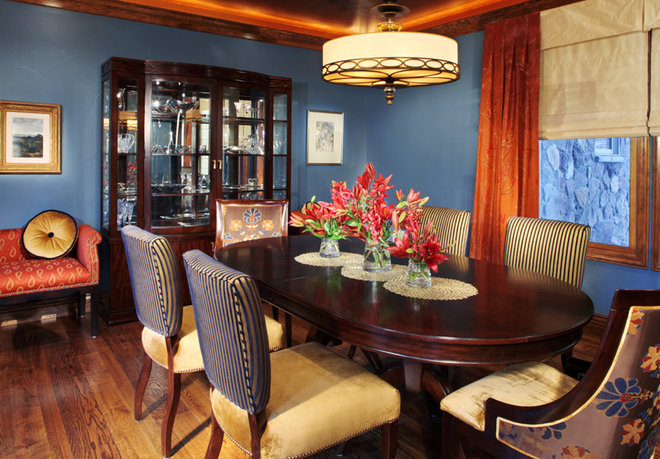 Blue paint colors dining room - Sherwin williams foothills interior ...