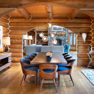 Inspiration for a rustic dining room remodel in Other