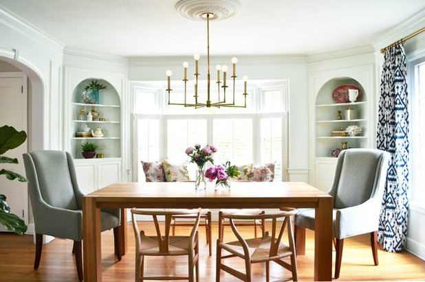 Transitional Dining Room by Rehabitat