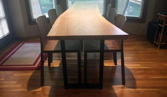 Leawood Live Edge Ash Table with walnut chairs