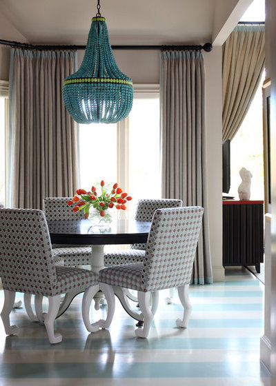 Contemporary Dining Room by Tobi Fairley Interior Design