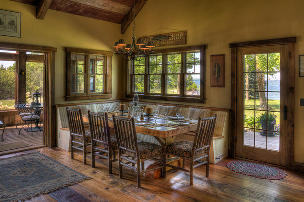 Rustic Dining Room by Lands End Development - Designers & Builders