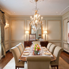 Traditional Dining Room by William Johnson Architect