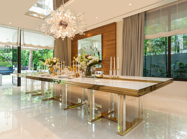 Contemporary Dining Room by Cameron Woo Design