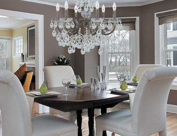 """Legacy Collection 6-Light 23"""" English Bronze Chandelier with Hand Polished Cryst"""