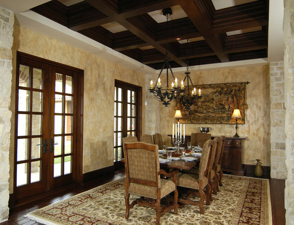 Mediterranean Dining Room by Visbeen Architects