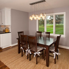 Transitional Dining Room by Ideal Cabinetry Design