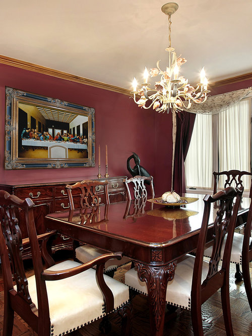 Example Of A Classic Dining Room Design In Wichita
