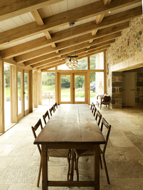 Farmhouse dining room houzz for Best dining rooms houzz