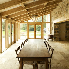 Farmhouse Dining Room by CCD Architects