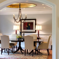 contemporary dining room by Leslie Hayes Interiors