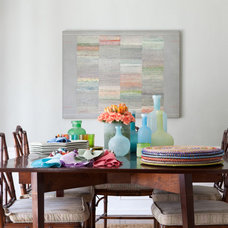 Eclectic Dining Room by Amy Bartlam Photography