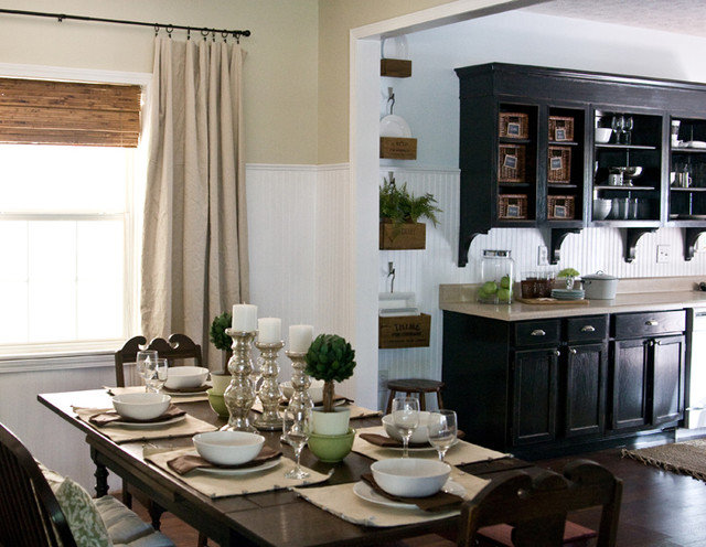 traditional dining room Lettered Cottage kitchen