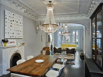 eclectic dining room by Ken Levenson Architect P.C.