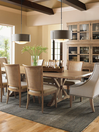Transitional Dining Room by Barbara Schaver @ Furnitureland South