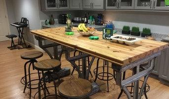 Lexington- Indsutrial Custom Farm Table Finished