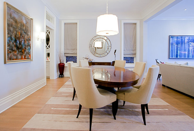 Traditional Dining Room by LG Construction + Development