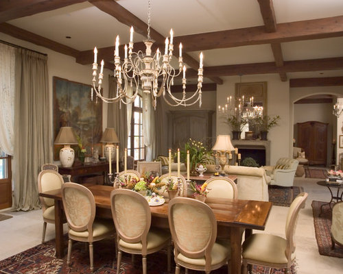 enchanting living room dining combo | Neutral Dining Room Home Design Ideas, Pictures, Remodel ...
