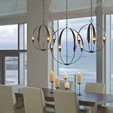 Contemporary Dining Room by Hubbardton Forge