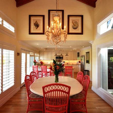 Tropical Dining Room by Lighthouse Interiors