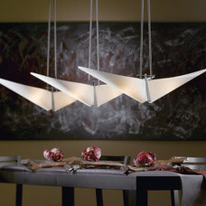 Contemporary Dining Room by Accent Lighting Oregon