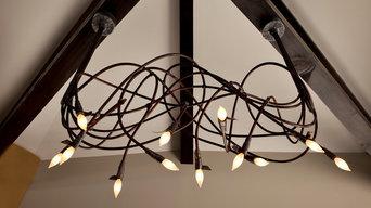 Lightsculptures Two Arm Chandelier