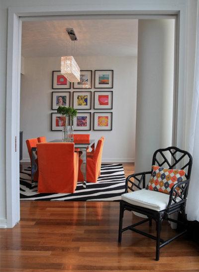 Contemporary Dining Room by Stephanie Sabbe