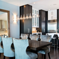 Eclectic Dining Room by J Designs, Inc