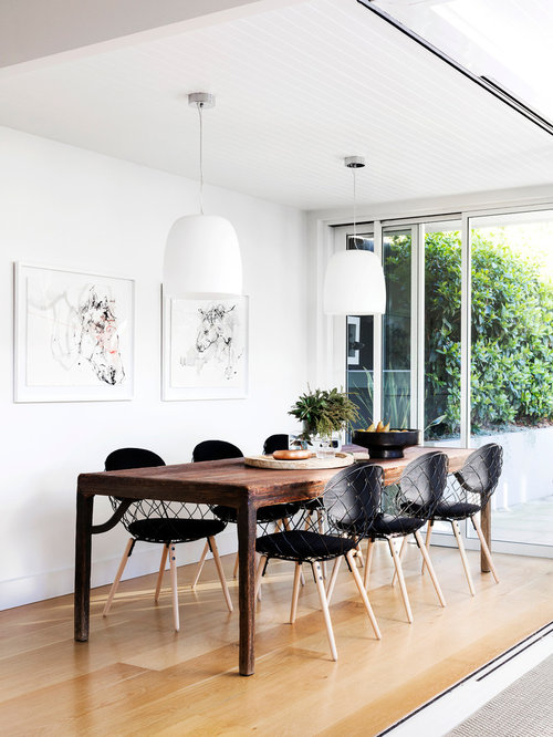 Design Ideas For A Small Contemporary Open Plan Dining In Sydney With White  Walls And Light Part 35