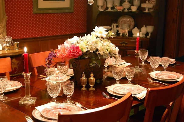 Traditional Dining Room by Little Red House