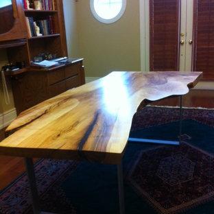 Live Edge Desk Maple Wood Slab Desk