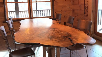 Live Edge Spalted Maple Trestle Table