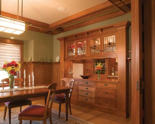 Craftsman kitchen wall covering home design photos amp decor ideas