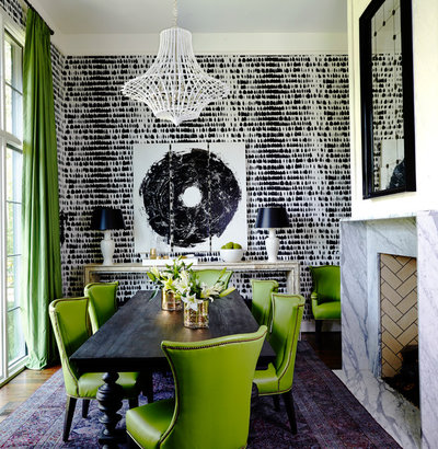 Eclectic Dining Room by Fry Classic Construction, llc