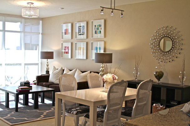 Contemporary Dining Room living/dining area