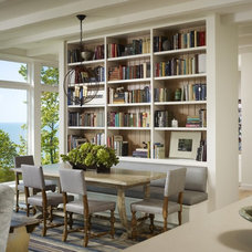Transitional Dining Room by Robbins Architecture