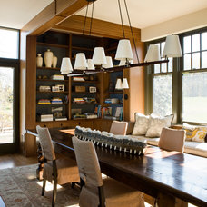 Farmhouse Dining Room by Sightline Art Consulting