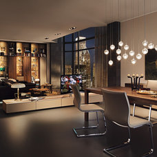 Contemporary Dining Room by Wharfside