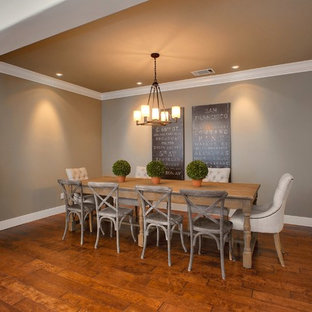 Dining room - contemporary dining room idea in San Francisco with gray walls