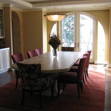Mediterranean Dining Room by LisaLeo designs